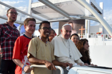 30/07/201 : JMJ Cracovie. Pape François à la Veillée de prière.