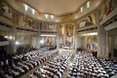 30/07/16 : JMJ, messe au sanctuaire Jean-Paul II à Cracovie