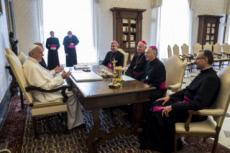 11/05/17 : Le pape François reçoit en audience la présidence de la CEF.