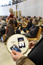 21/01/18: Quête élctronique lors de la messe dominicale à Paris