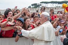 Pape avec les jeunes