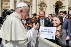17/04/19 : Le pape François et Greta THUMBERG au Vatican