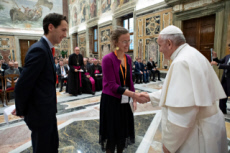 02/12/19 : Le Pape rencontre des entrepreneurs français.