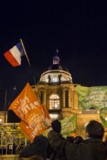 21/01/20 : Manifestants anti projet de loi bioéthique, devant le Sénat.