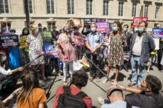 27/07/20 : Bioéthique, La manif Pour Tous devant l'Assemblée nationale.